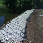 Shoreline Stabilization with Cell-Tek Load Support Grid - LSG Series - HDG Building Materials