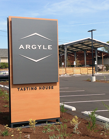 Argyle Tasting House Sign 3 - Tru-Grain made with Resysta - HDG Building Materials