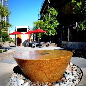 Inverted and Truncated Conical Water Feature from 20 Ton Block of Granite - HDG Building Materials