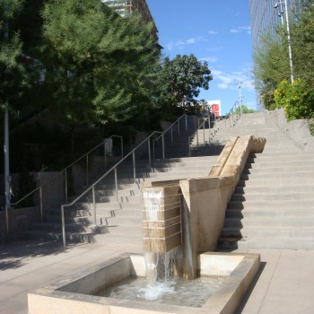 Stair-Rill Water Feature at Charles Korrick Fountain - CityScape Plaza - HDG Building Materials