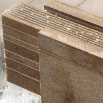 Gobi Tan Granite Water Feature - Split-Face Finish