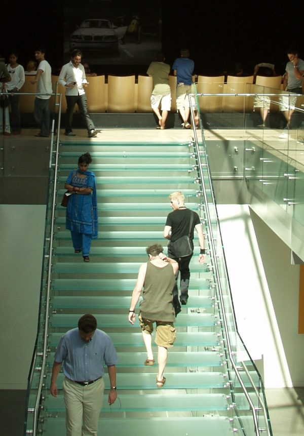 Stairs with Architectural Glass Treads - HDG Building Materials