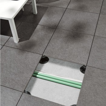 Porcelain Pavers over Pedestals Provide Access to Unsightly Services - HDG Building Materials