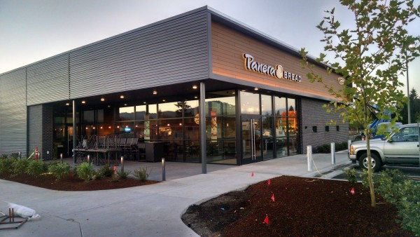 Resysta Tru-grain Cladding on Panera Bread - HDG Building Materials