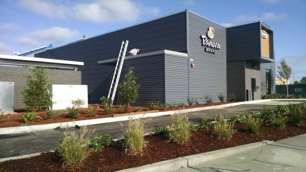 Tru-Grain made with Resysta Cladding on Panera Bread - HDG Building Materials
