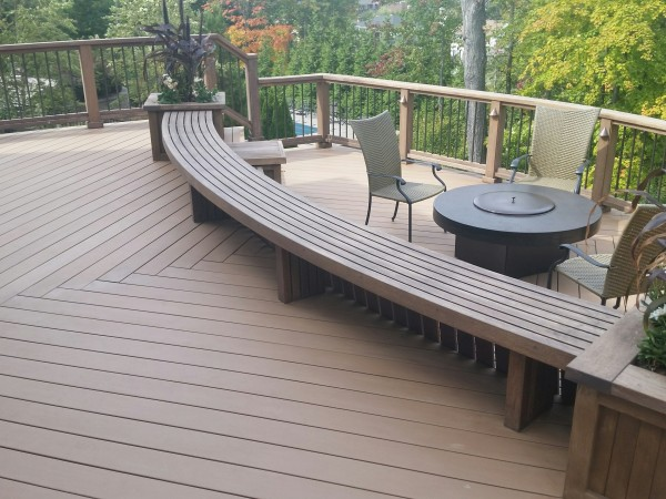 Resysta Tru Grain decking and bench - HDG Building Materials