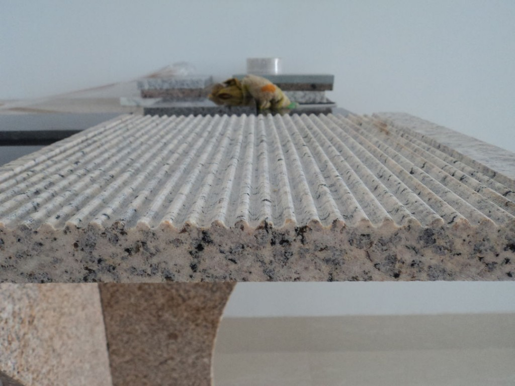 Tiger Yellow Granite Round Scored Finish - HDG Building Materials