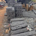 Black Basalt Dimension Stone with Split Face Finish - HDG Building Materials