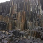 Black Basalt Columns in Quarry - HDG Building Materials