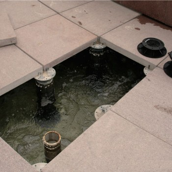 image Buzon Pedestals with water feature services hidden below surface - HDG Building Materials