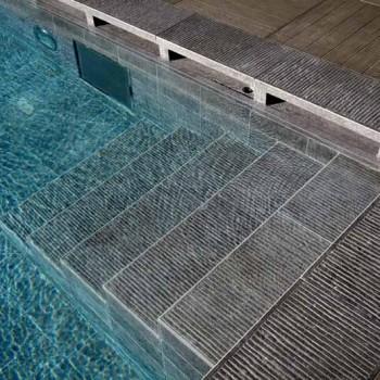 Ebano 3463 Porcelain Tile - HDG Legno Espresso - Pool Surround