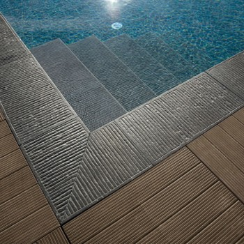 Ebano 3463 Porcelain Tile - HDG Legno Espresso - Pool Surround