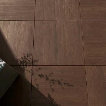 Legno Walnut Ceramic Tile 60x60 Close Up