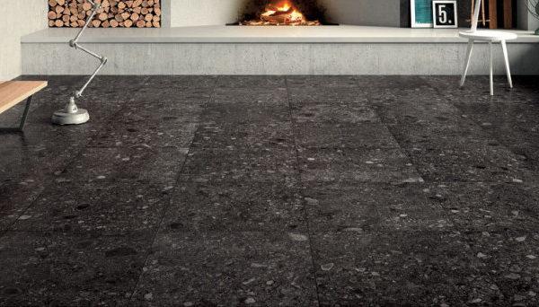 HDG Pietra Sierra Smoke Stone Finish Porcelain Paver - HDG Building Materials