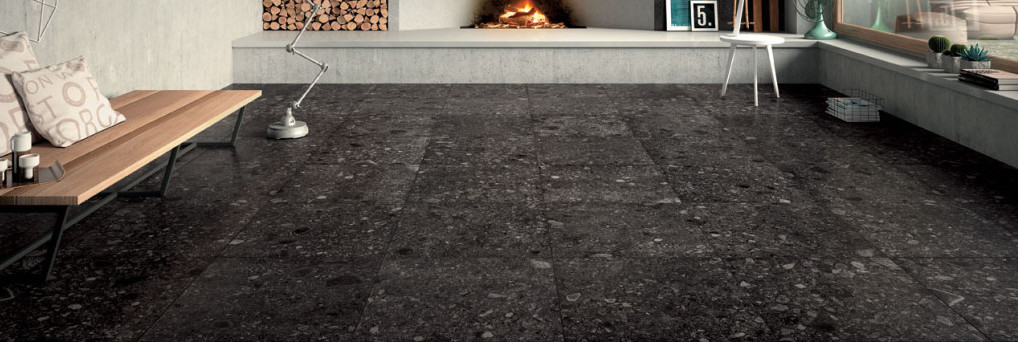 HDG Pietra Sierra Smoke Stone Finish Porcelain Paver - HDG Building Materials