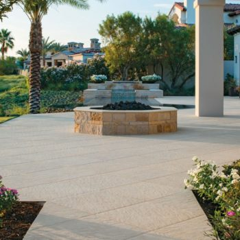 HDG Sierra Tan - Mountain Outdoor Porcelain Tile Fountain surround