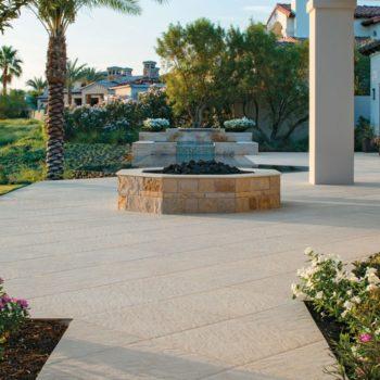 HDG Sierra Tan - Mountain Outdoor Porcelain Tile Fountain surround
