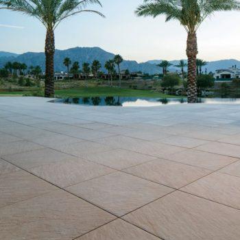 HDG Sierra Tan - Mountain Outdoor Porcelain Tile courtyard