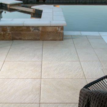 HDG Sierra Tan - Mountain Outdoor Porcelain Tile pool surround