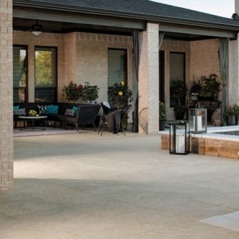 HDG Sierra Tan - Mountain Outdoor Porcelain Tile with natural stone