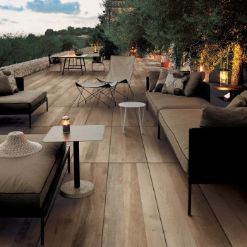 Orinda Light Porcelain Paver in Outdoor Dining Terrace - HDG Building Materials