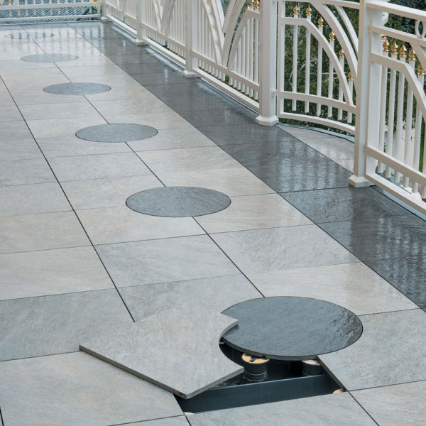 Image showing Pedestal use to Hide Electrical Lighting Irrigation Services on Terraces