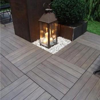Ebano 3463 Porcelain Tile - HDG Legno Espresso - Garden Deck
