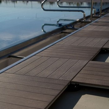 Ebano 3463 Porcelain Tile - HDG Legno Espresso - Raised Terrace Pool Surround