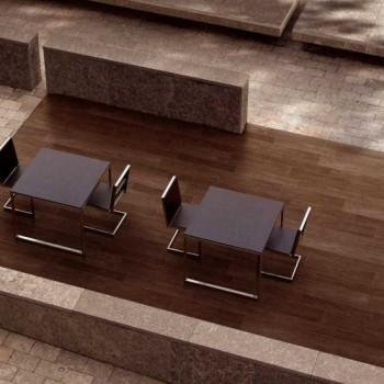 Ebano 3463 Porcelain Tile - HDG Legno Espresso - Dining Area
