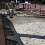 image of Tiger Yellow Granite with Round Score Finish Natural Stone Pavers at Horton Plaza San Diego - HDG Building Materials