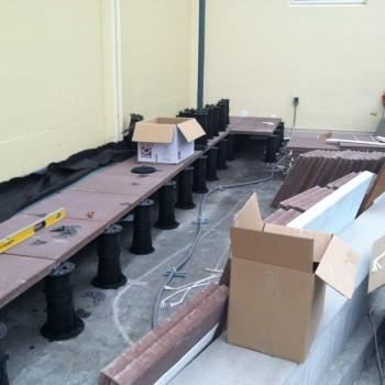 Buzon Pedestals with Tile Pavers - HDG Building Materials