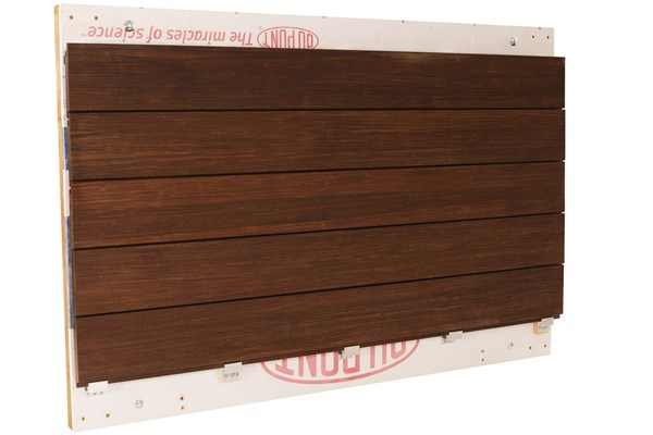 Dasso Bamboo Rainclad Siding Mounted on Panel Using Clips - HDG Building Materials