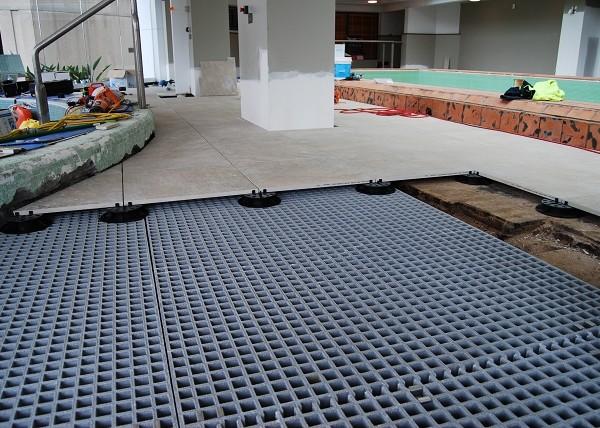 Buzon Pedestals on Uneven Floor - HDG Building Materials