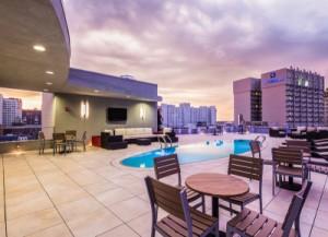 Canal Street Rooftop Pool Terrace - Buzon Pedestals + Porcelain Pavers 2