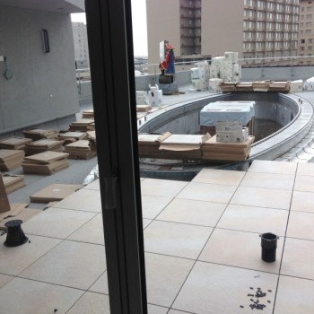 Canal Street Rooftop Pool Terrace 3 - Buzon Pedestals + Porcelain Pavers