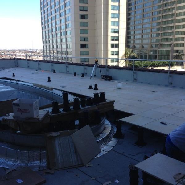 Canal Street Rooftop Pool Terrace 2 - Buzon Pedestals + Porcelain Pavers