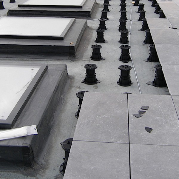 Buzon Pedestals with Stone Slabs - HDG Building Materials
