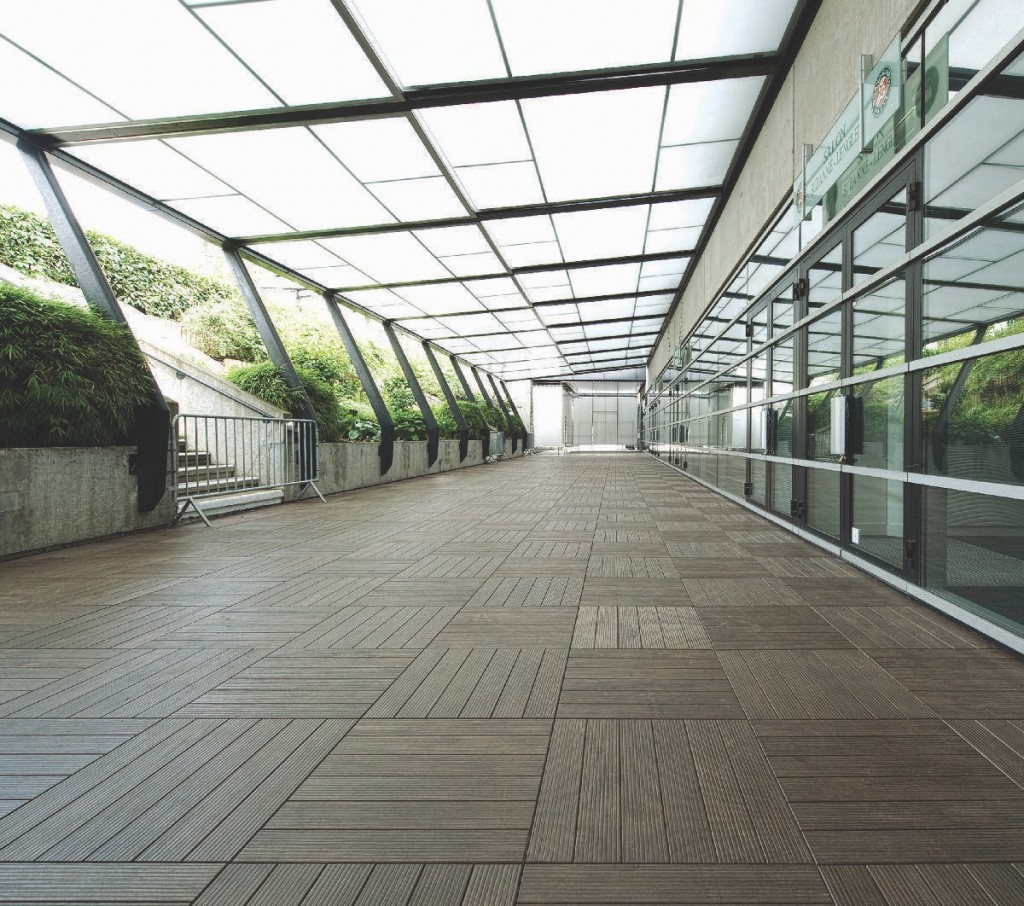 HDG Faggio 3468 Porcelain Tile - Atrium Walkway - HDG Building Materials