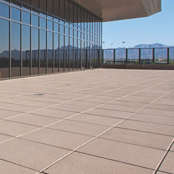 HDG SW Series Concrete Paver - Building Terrace Set on Buzon Pedestals