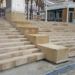 Granite Stone Stairs at Horton Plaza San Diego - HDG Building Materials