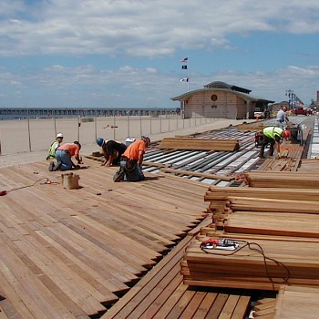 Buzon Pedestals with Hardwood Decking - HDG Building Materials