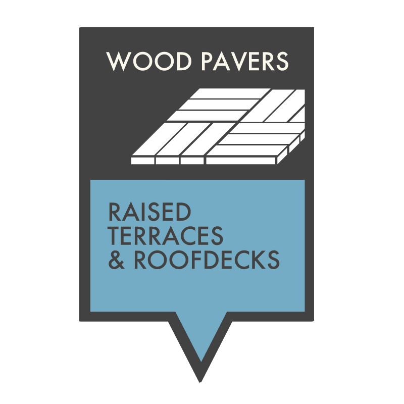 Wood Pavers for Raised Terraces and Roofdecks - HDG Building Materials