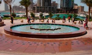 Buzon Pedestals in Civic Plaza - HDG Building Materials