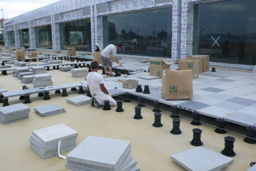 BC Series Buzon Pedestals with Stone Tile - Marina Application 4 - HDG Building Materials