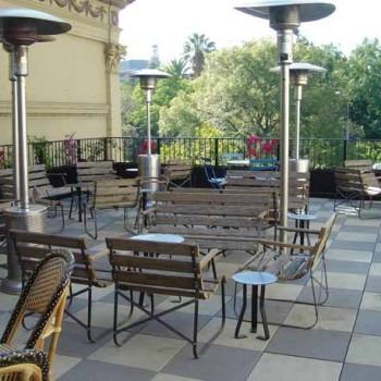Buzon Pedestals with Concrete Tiles in Restaurant Terrace - HDG Building Materials