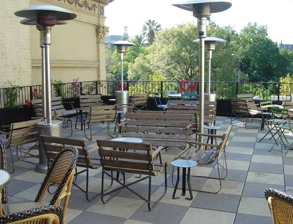 Buzon Pedestals with Concrete Tiles in Restaurant Terrace - HDG Building Materials