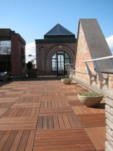Buzon Pedestals with Hardwood Tiles 2 - HDG Building Materials