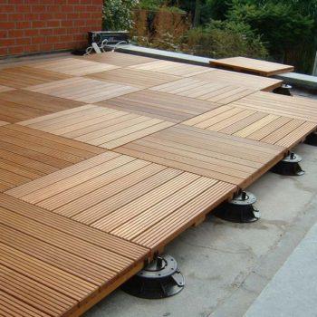 Buzon Pedestals with Hardwood Tiles 5 - HDG Building Materials