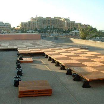 Buzon Pedestals with Hardwood Tiles 6 - HDG Building Materials