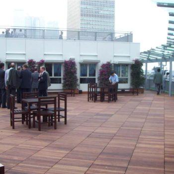 Buzon Pedestals with Hardwood Tiles 7 - HDG Building Materials